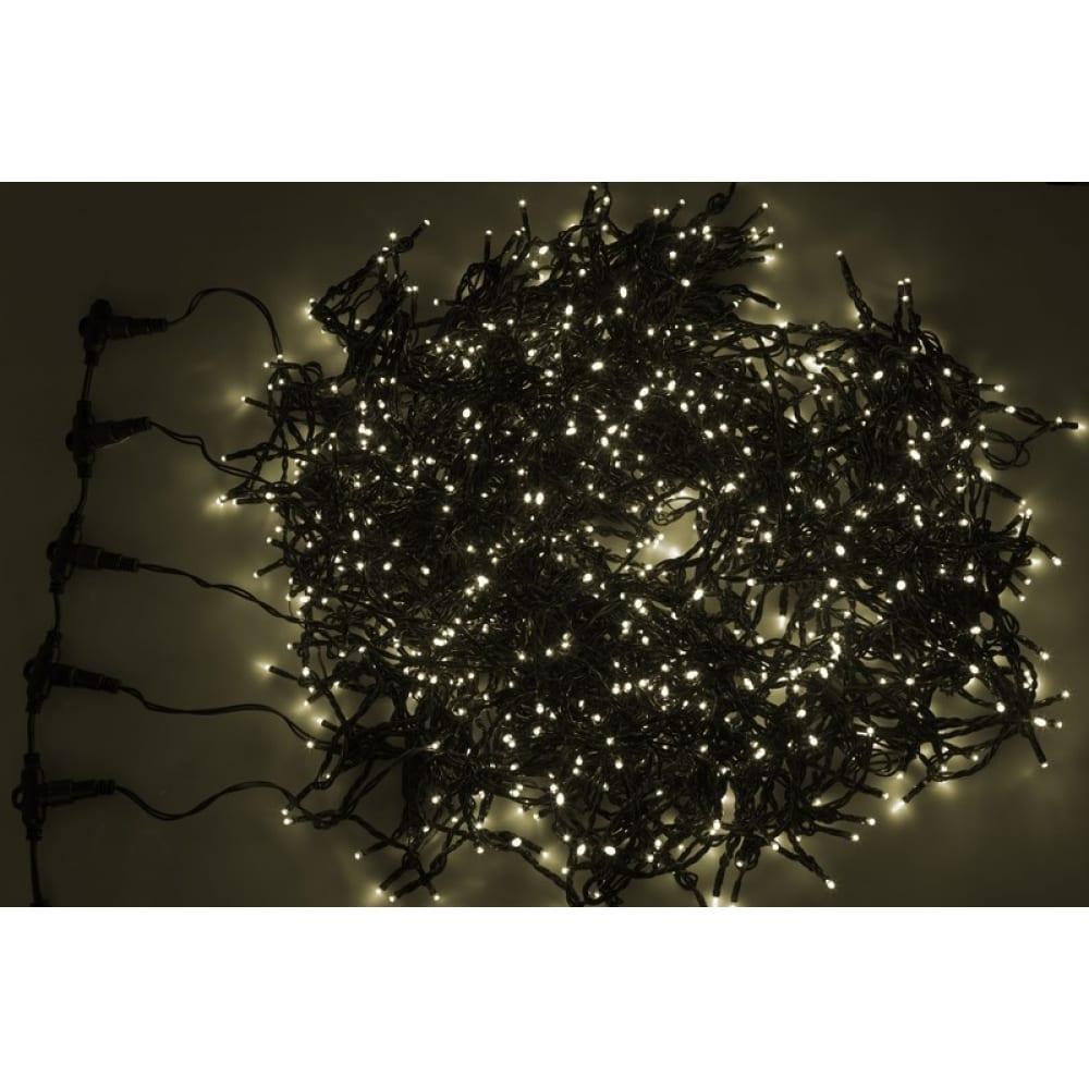 Купить Гирлянда neon-night клип лайт 24в, 5 нитей по 20 м, flashing, 665 led 535 тепло-белые + 130 flashing белые 323-606