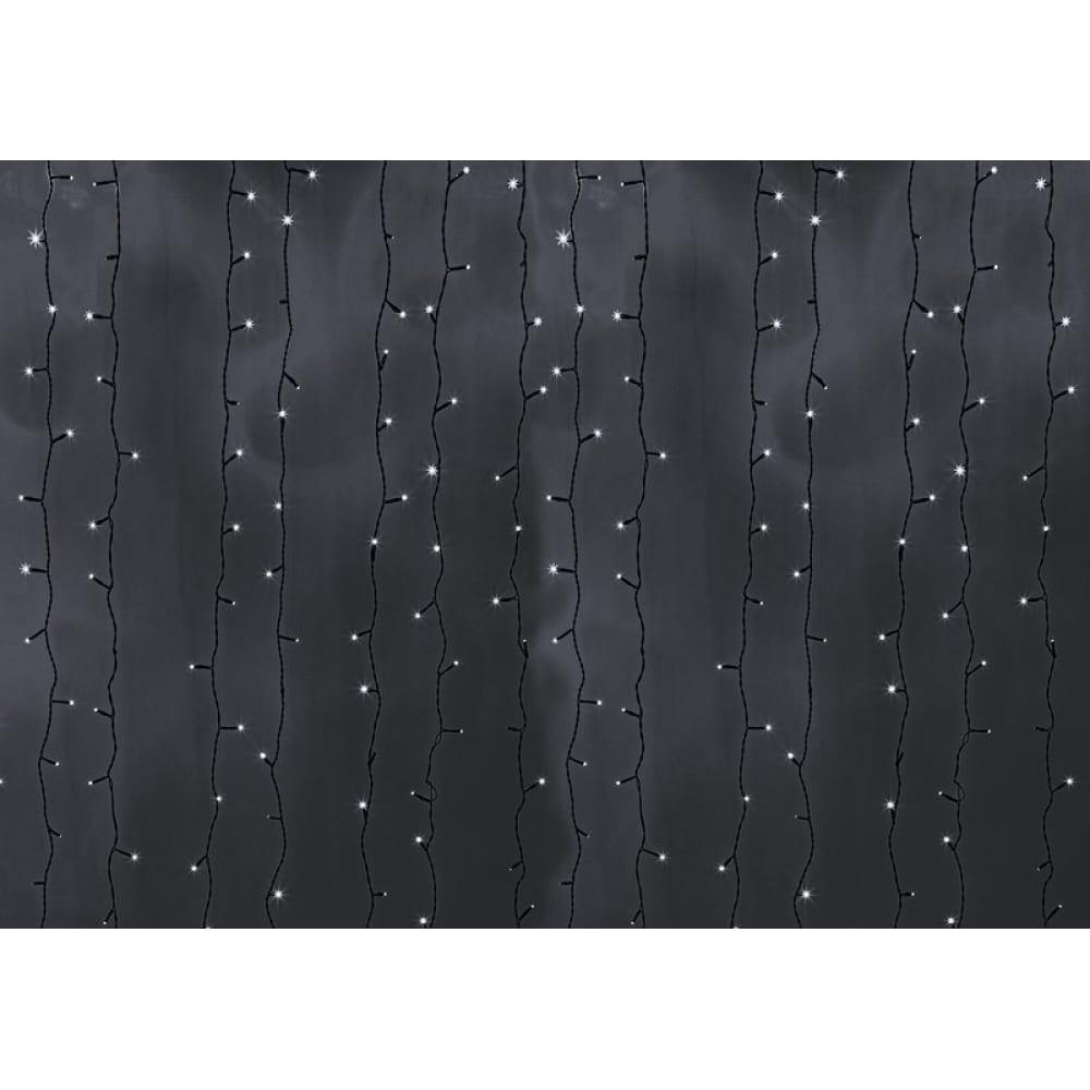 Купить Гирлянда neon-night дождь занавес 2х6м, черный пвх, 1500 led белые 235-165