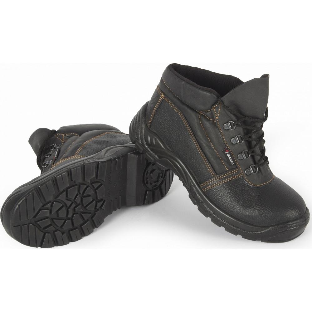 Кожаные ботинки факел оникс черные, р.45 87459323.010Ботинки<br>Серия: ОНИКС ;<br>ГОСТ\ТУ: ГОСТ Р 12.4.184-97 ;<br>Метод крепления: литьевые (инжектирование) ;<br>Материал верха: комбинированный ;<br>Подкладка: текстильная ;<br>Вес модели: 0.7 кг;<br>Размеры: 45 ;<br>Защитные свойства: от нефти, нефтепродуктов, от механических воздействий, от общих производственных загрязнений, от механического истирания, от нетоксичной пыли ;<br>Подошва: ПУ (полиуретан) ;<br>Стелька: стелечное нетканое полотно ;<br>Высота: ботинки (средние) ;