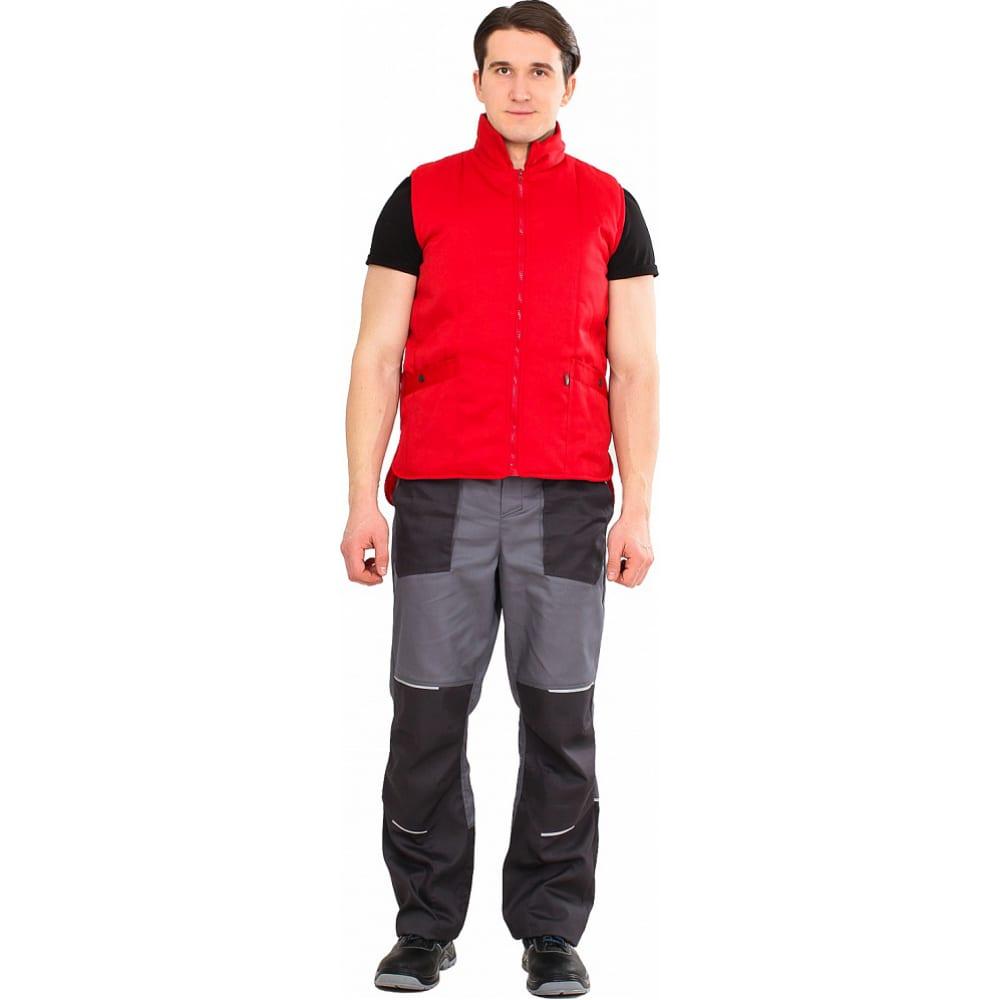 Универсальный утепленный жилет факел красный, р.52-54 50583000.007Утепленные жилеты<br>Вес: 0.5 кг;<br>Тип: универсальный ;<br>Цвет: красный ;<br>Max температура: +10 °С;<br>Ткань: смесовая ;<br>Состав ткани: 35% хлопок, 65% полиэстер ;<br>Плотность ткани: 210 г/кв.м;<br>Размер: 52-54 ;<br>Рост: 170-176 см;<br>Пропитка: водоотталкивающая ;<br>Световозвращающая полоса: нет ;<br>Тип застежки: молния ;<br>ГОСТ\ТУ: ГОСТ Р 12.4.236-2011 ;<br>Единиц в упаковке: 1 шт;<br>Утеплитель: синтепон ;<br>Международный размер: XL (52-54) ;