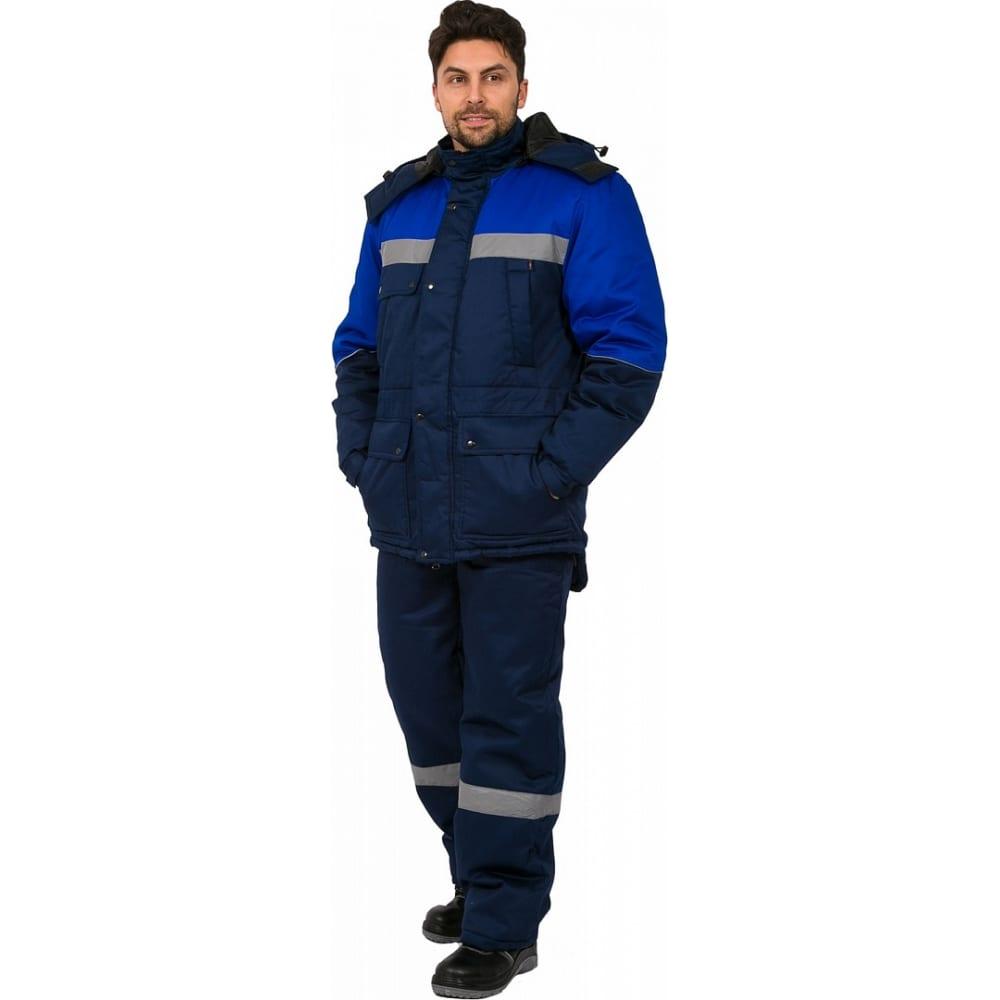 Зимний костюм факел сибер соп темно-синий/васильковый, р. 48-50, 182-188 см 87468920.004Рабочие костюмы<br>Тип: мужской с полукомбинезоном ;<br>Цвет: темно-синий/васильковый ;<br>Max температура: -41 °C;<br>Ткань: смесовая ;<br>Состав ткани: 65% пэ, 35% хб ;<br>Плотность ткани: 210 г/кв.м;<br>Размер: 48-50 ;<br>Рост: 182-188 см;<br>Пропитка: водоотталкивающая ;<br>Капюшон: есть ;<br>Тип застежки: молния ;<br>ГОСТ\ТУ: ГОСТ Р 12.4.236-2011 ;<br>Единиц в упаковке: 1 шт.;<br>Защитные свойства: от общих загрязнений, от истирания, от пониженных температур воздуха и ветра ;<br>Утеплитель: синтепон ;<br>Международный размер: M (48-50) ;<br>Светоотражающие элементы: есть ;<br>Сигнальный: есть ;