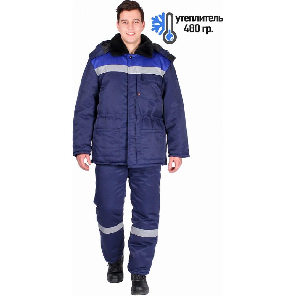 Зимний костюм факел труженик-ультра темно-синий/васильковый, р. 64-66, 182-188 см 87459112.016Рабочие костюмы<br>Ткань: смесовая ;<br>Утеплитель: синтепон ;<br>Max температура: -18 °С;<br>Плотность ткани: 210 г/кв.м;<br>Размер: 64-66 ;<br>Рост: 182-188 см;<br>Пропитка: водоотталкивающая ;<br>Капюшон: есть ;<br>Тип застежки: пуговицы ;<br>Цвет: темно-синий/васильковый ;<br>ГОСТ\ТУ: ГОСТ Р 12.4.236-2011 ;<br>Международный размер: 7ХL (64-66) ;<br>Сигнальный: нет ;<br>Светоотражающие элементы: есть ;<br>Единиц в упаковке: 1 шт;<br>Защитные свойства: от общих загрязнений, от истирания, от пониженных температур воздуха и ветра ;