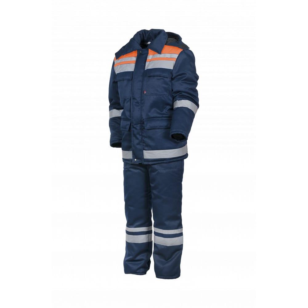 Зимний костюм факел горизонт-люкс темно-синий/оранжевый, р.48-50, рост 182-188 52913000.011Рабочие костюмы<br>Тип: мужской брючный ;<br>Цвет: темно-синий/оранжевый ;<br>Max температура: -18 °C;<br>Ткань: смесовая ;<br>Плотность ткани: 210 г/кв.м;<br>Размер: 48-50 ;<br>Рост: 182-188 см;<br>Пропитка: водоотталкивающая ;<br>Капюшон: есть ;<br>Тип застежки: молния ;<br>ГОСТ\ТУ: ГОСТ Р 12.4.236-2011 ;<br>Единиц в упаковке: 1 шт.;<br>Защитные свойства: от пониженных температур ;<br>Утеплитель: синтепон ;<br>Международный размер: M (48-50) ;<br>Светоотражающие элементы: есть ;<br>Сигнальный: нет ;