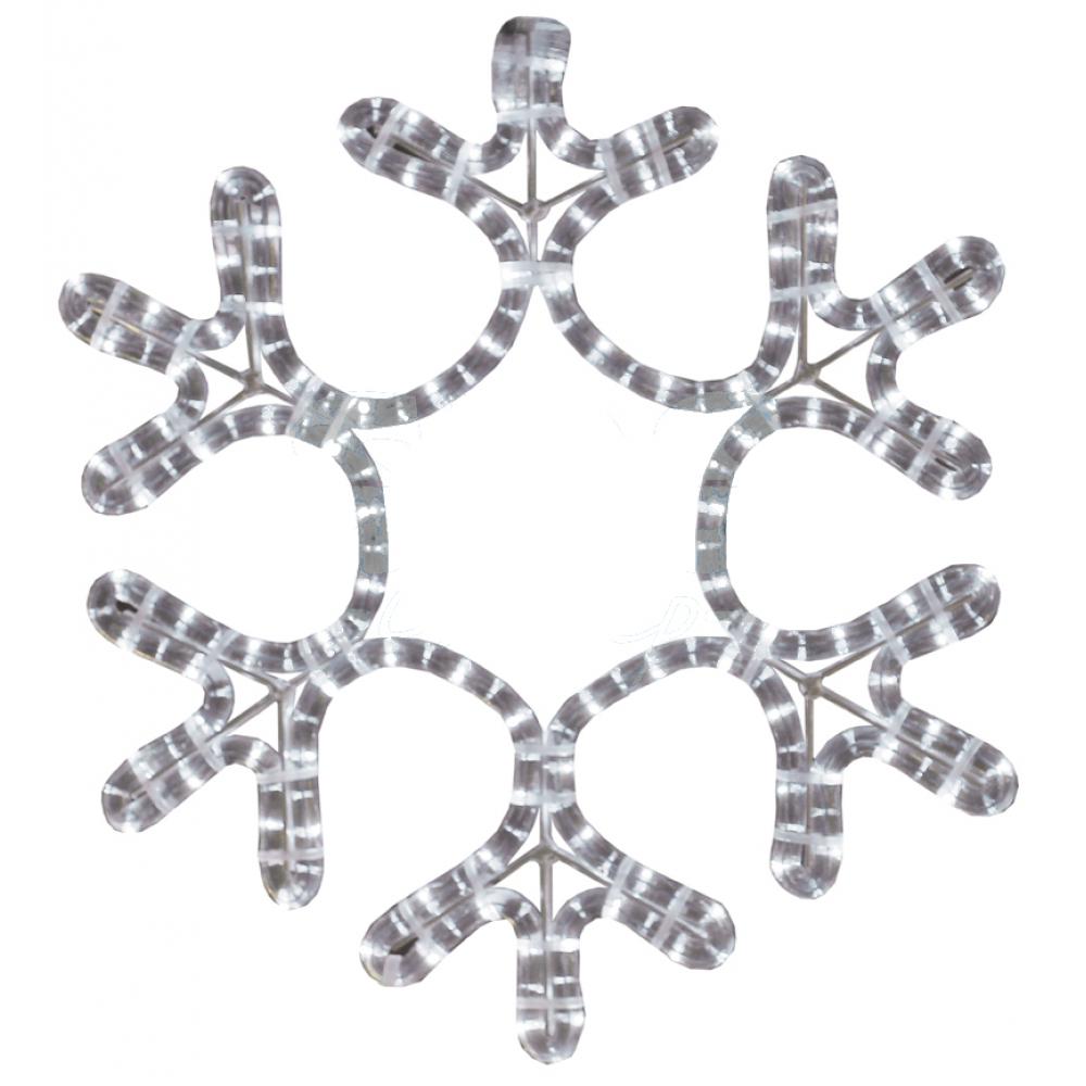 Купить Световая фигура neon-night снежинка тепло-белая, 45х38см 501-212