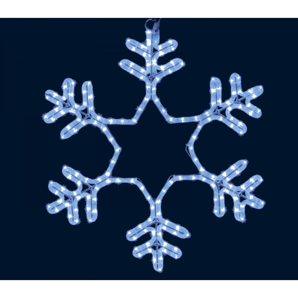 Световая фигура neon night снежинка led,