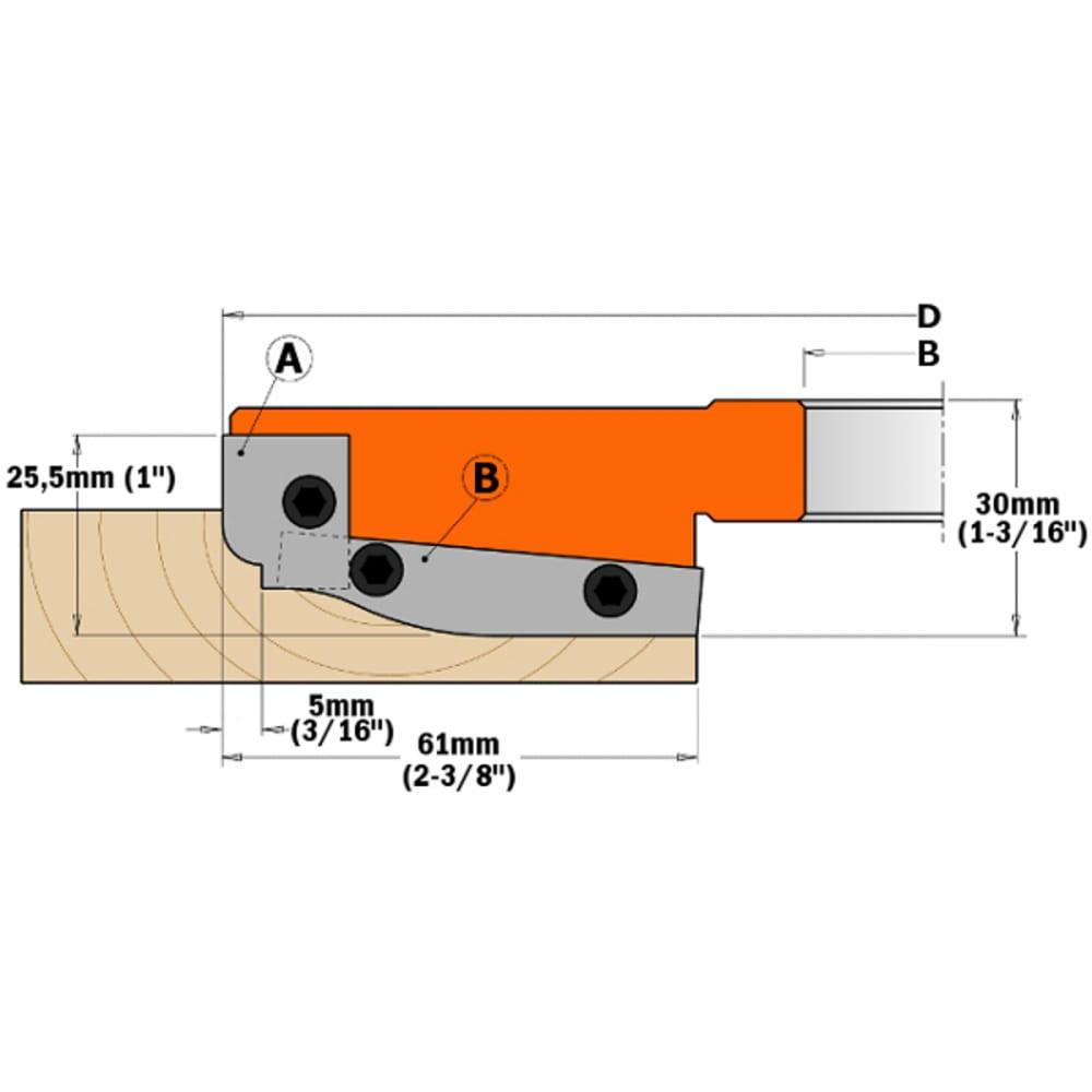 Нож (2 шт; 60х11.9х1.5 мм) для фрез