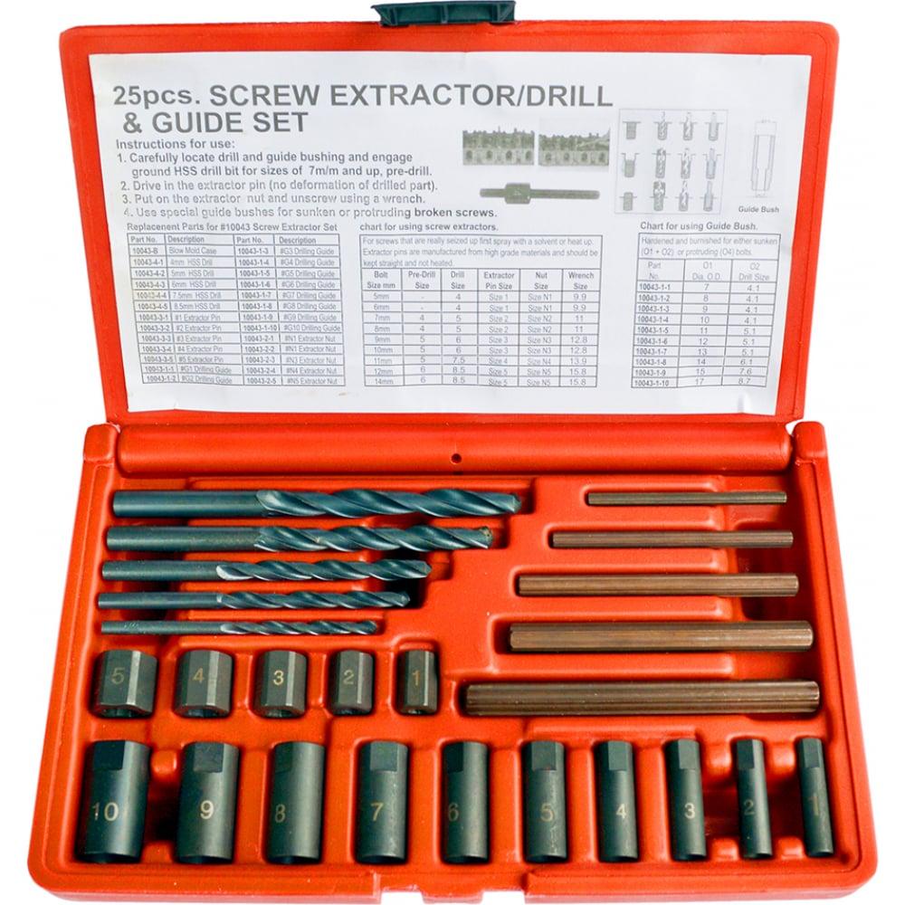 Набор экстракторов для сломанного крепежа wiederkraft wdk-65295
