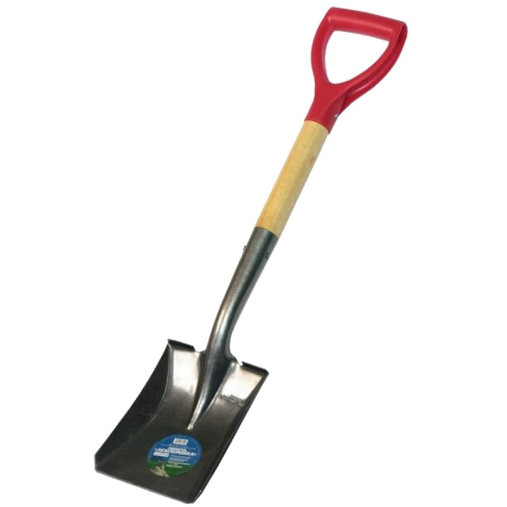 Укороченная совковая лопата землеройка 0118-чр