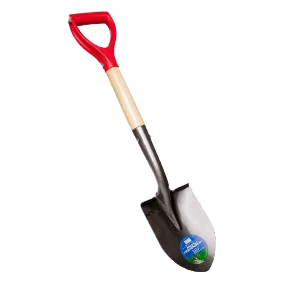 Укороченная штыковая лопата землеройка 0115-чр