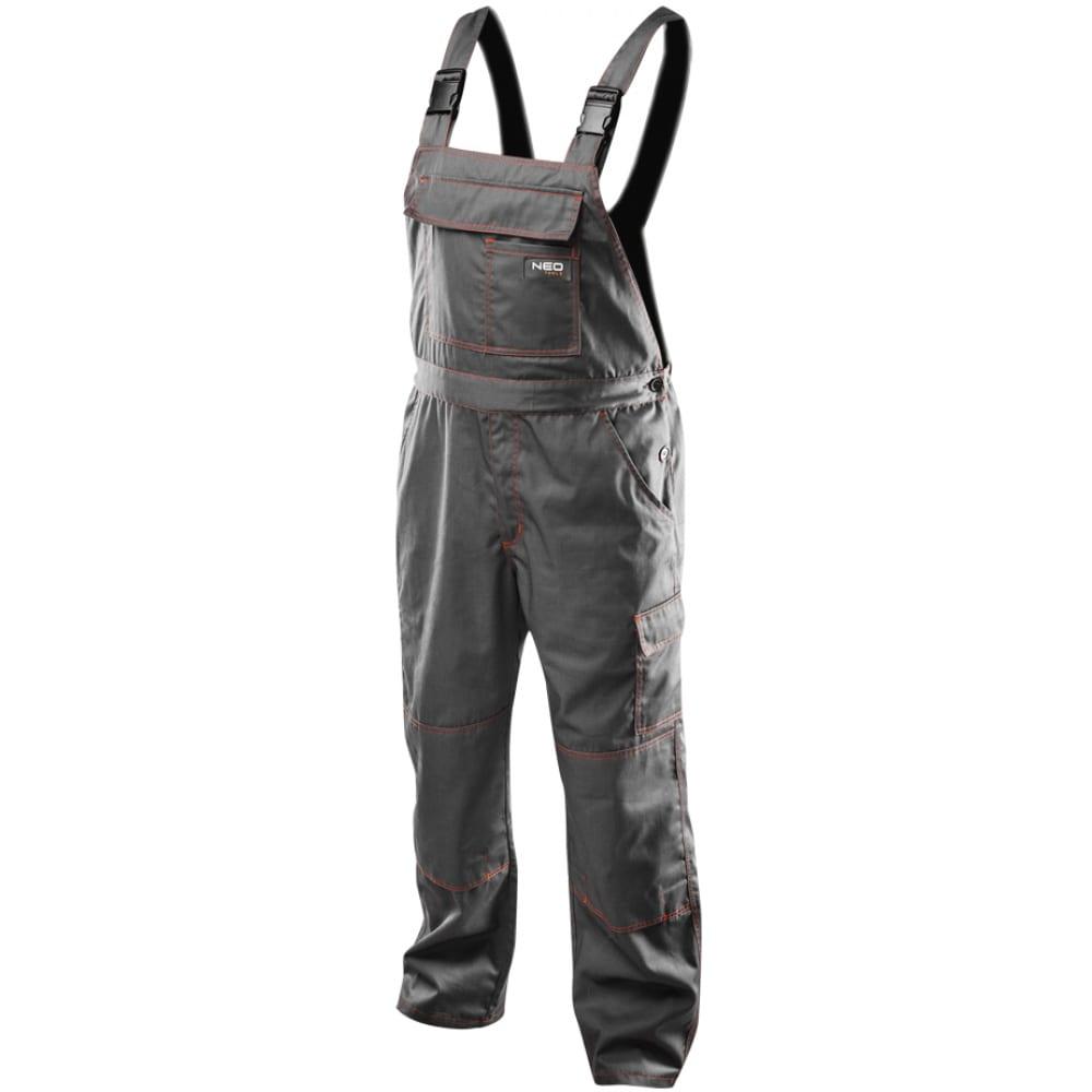 Рабочий полукомбинезон neo pазмер l/54 81-430-ldРабочие комбинезоны и брюки<br>Тип: мужской полукомбинезон ;<br>Цвет: серый ;<br>Ткань: полиэстер, хлопок ;<br>Состав ткани: 65%-полиэстер, 35%-хлопок ;<br>Плотность ткани: 245 г/кв.м;<br>Размер: 54 ;<br>Рост: 182-188 см;<br>Пропитка: нет ;<br>Световозвращающая полоса: нет ;<br>Капюшон: нет ;<br>Тип застежки: фастекс (полуавтоматическая застежка) ;<br>ГОСТ\ТУ: EN ISO 13688:2013 ;<br>Единиц в упаковке: 1 шт.;<br>Вес модели: 0.874 кг;<br>Защитные свойства: защита от общих производственных загрязнений,  защита от истирания ;<br>Международный размер: XL (52-54) ;<br>Костюм маляра: нет ;
