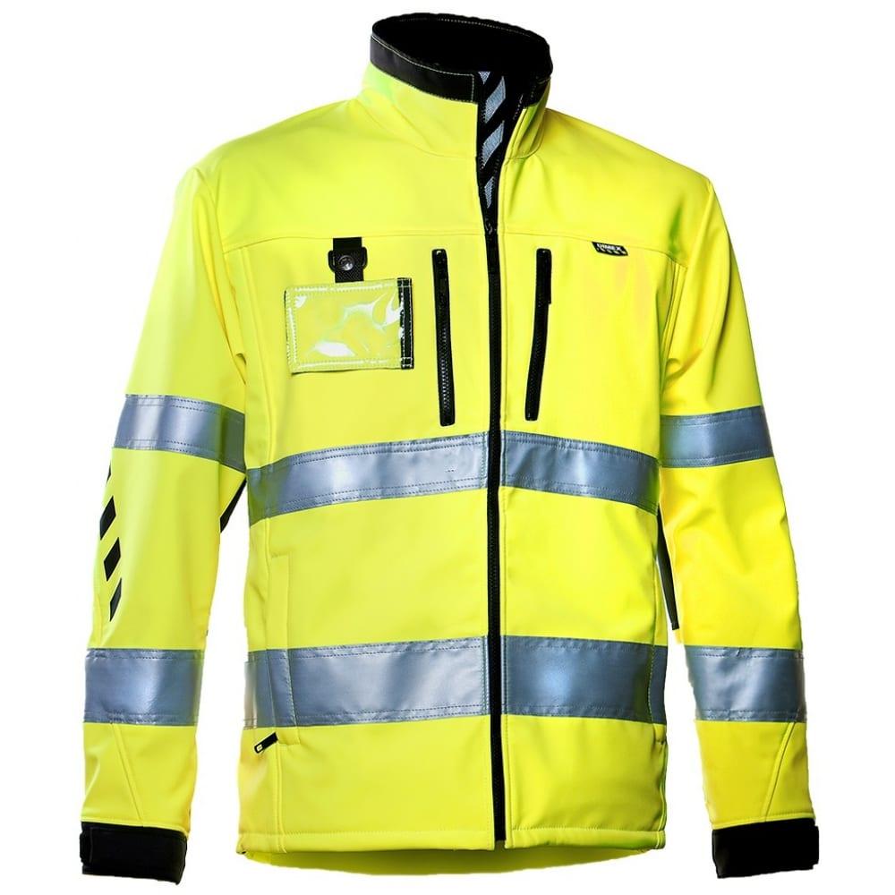 Куртка dimex 688 софтшелл-sКуртки<br>Тип: мужская ;<br>Цвет: флуоресцентный желтый/черный ;<br>Ткань: мембранная ткань Foxa Yo ;<br>Состав ткани: 86% полиэстер, 12% полиуретан, 2% эластан ;<br>Плотность ткани: 320 г/кв.м;<br>Размер: S ;<br>Пропитка: водоотталкивающая ;<br>Световозвращающая полоса: есть ;<br>Капюшон: нет ;<br>Тип застежки: молния ;<br>ГОСТ\ТУ: EN ISO 20471 ;<br>Единиц в упаковке: 1 шт.;<br>Вес модели: 1 кг;<br>Защитные свойства: от общих загрязнений, от истирания ;<br>Международный размер: XS (44-46) ;