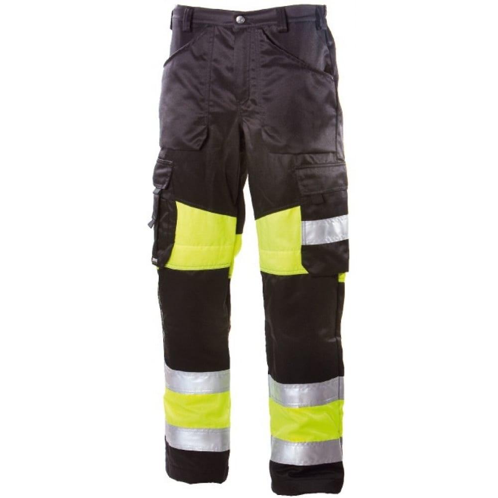 Брюки dimex 6340-48Рабочие брюки<br>Тип: мужские брюки ;<br>Ткань: смесовая ;<br>Состав ткани: 70% полиэстер, 30% хлопок ;<br>Плотность ткани: 245 г/кв.м;<br>Размер: 48 ;<br>Пропитка: водоотталкивающая ;<br>Световозвращающая полоса: есть ;<br>Тип застежки: молния ;<br>Единиц в упаковке: 1 шт;<br>Цвет: черный ;<br>Международный размер: M (48-50) ;<br>Защитные свойства: от общих загрязнений, от истирания ;