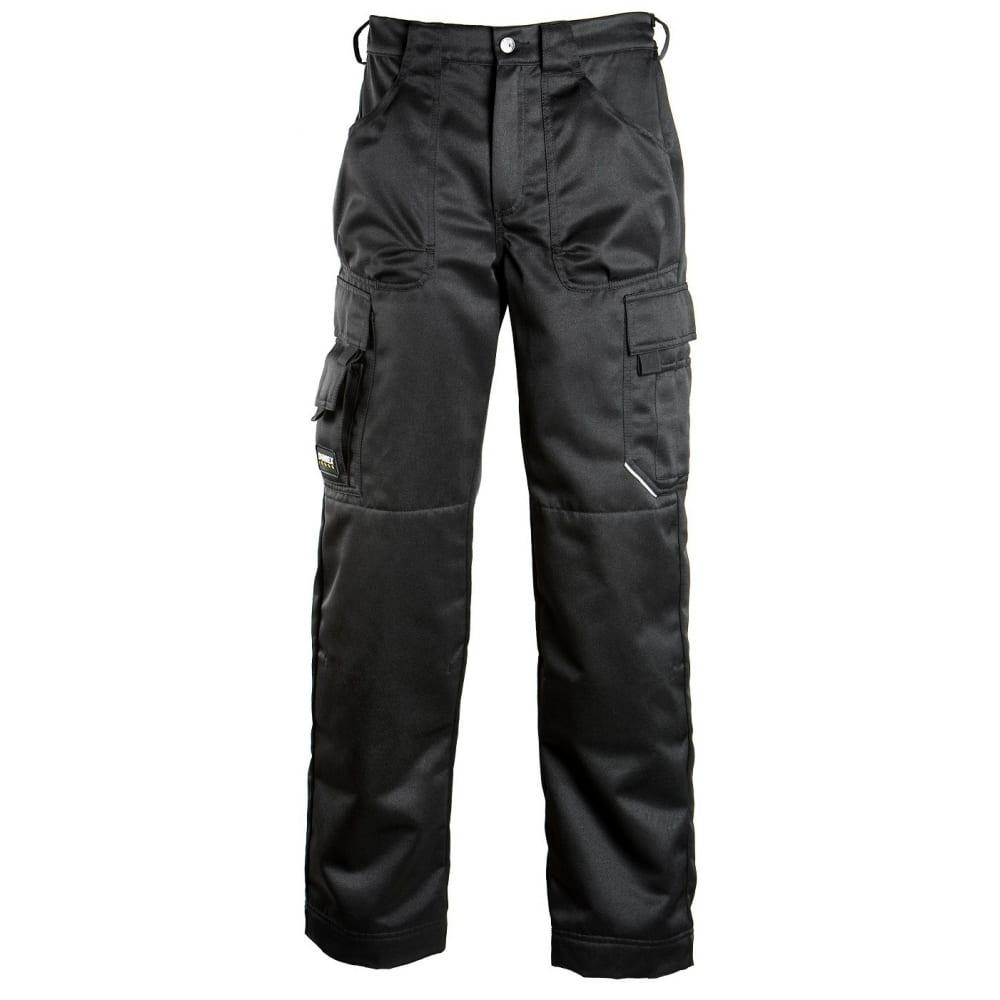 Брюки dimex 686-56Рабочие брюки<br>Тип: мужские брюки ;<br>Ткань: смесовая ;<br>Состав ткани: 70% полиэстер, 30% хлопок ;<br>Плотность ткани: 245 г/кв.м;<br>Размер: 56 ;<br>Пропитка: водоотталкивающая ;<br>Световозвращающая полоса: нет ;<br>Тип застежки: молния ;<br>Единиц в упаковке: 1 шт.;<br>Цвет: черный ;<br>Международный размер: XXL (54-56) ;<br>Защитные свойства: от общих загрязнений, от истирания ;