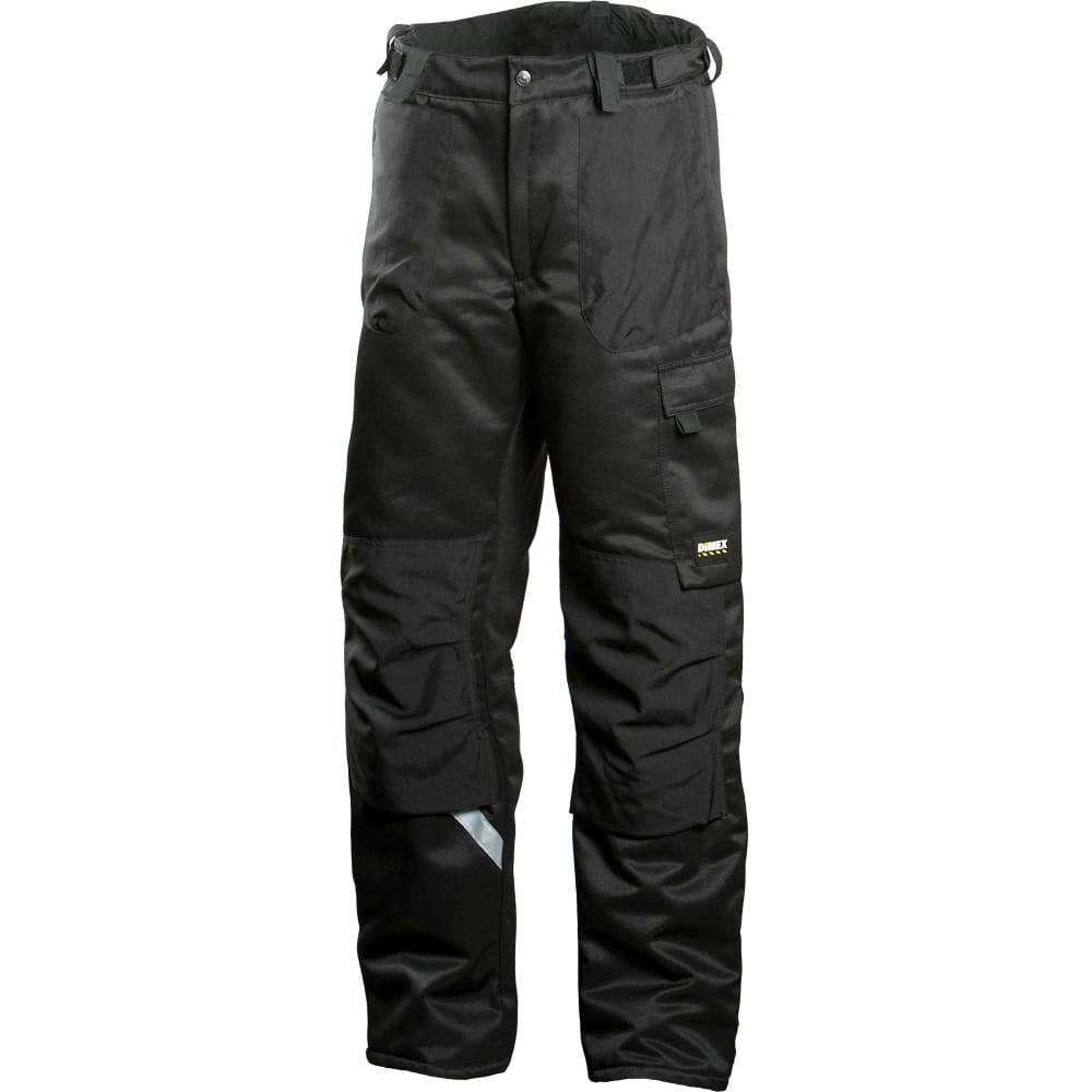 Зимние брюки dimex 682-46Рабочие брюки<br>Тип: мужские брюки ;<br>Цвет: черный ;<br>Ткань: смесовая ;<br>Состав ткани: 70% полиэстер, 30% хлопок ;<br>Плотность ткани: 245 г/кв.м;<br>Размер: 46 ;<br>Пропитка: водоотталкивающая ;<br>Световозвращающая полоса: есть ;<br>Тип застежки: молния ;<br>Единиц в упаковке: 1 шт;<br>Защитные свойства: от общих загрязнений, от истирания, от пониженных температур воздуха и ветра ;<br>Утеплитель: Thinsulate ;<br>Международный размер: S (46-48) ;