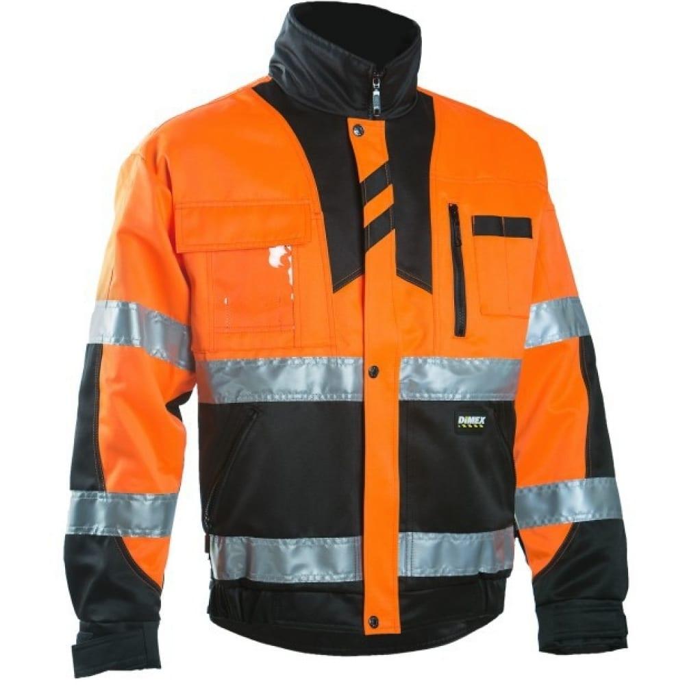 Рабочая куртка dimex 6019 оранжевая 2xlКуртки<br>Тип: мужская ;<br>Цвет: оранжевый ;<br>Ткань: смесовая ;<br>Состав ткани: 70% полиэстер, 30% хлопок ;<br>Плотность ткани: 245 г/кв.м;<br>Размер: 2XL ;<br>Пропитка: водоотталкивающая ;<br>Световозвращающая полоса: есть ;<br>Капюшон: нет ;<br>Тип застежки: молния ;<br>Единиц в упаковке: 1 шт.;<br>Защитные свойства: от общих загрязнений, от истирания ;<br>Международный размер: 4XL (58-60) ;