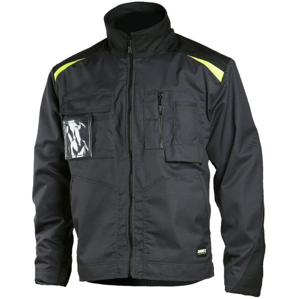 Рабочая куртка dimex 6041 3xlКуртки<br>Тип: мужская ;<br>Цвет: черный ;<br>Ткань: смесовая ;<br>Состав ткани: 65% полиэстер, 35% хлопок ;<br>Плотность ткани: 250 г/кв.м;<br>Размер: 3XL ;<br>Световозвращающая полоса: нет ;<br>Капюшон: нет ;<br>Тип застежки: молния ;<br>Единиц в упаковке: 1 шт.;<br>Защитные свойства: от общих загрязнений, от истирания ;<br>Международный размер: 6XL (62-64) ;
