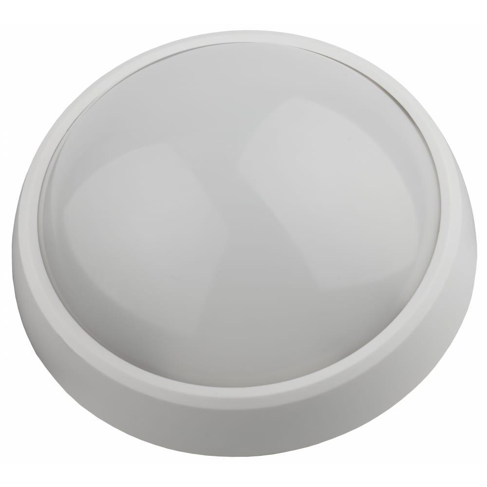 Купить Светодиодный светильник эра spb-1-08-mws w ip54 8вт 4000к 640лм круг 180х75 бел с настраиваемым датчиком движения 20/2 б0022452