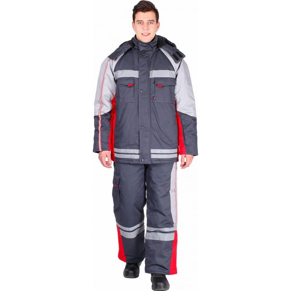 Купить Зимний костюм факел темно-серый/красный, р.64-66, рост 170-176 54157000.015