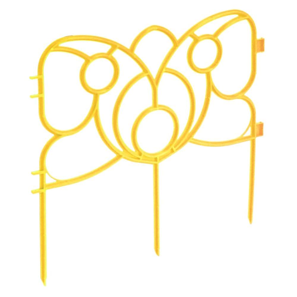 Купить Декоративный забор комплект-агро бабочка 19х295 см желтый ka1179y