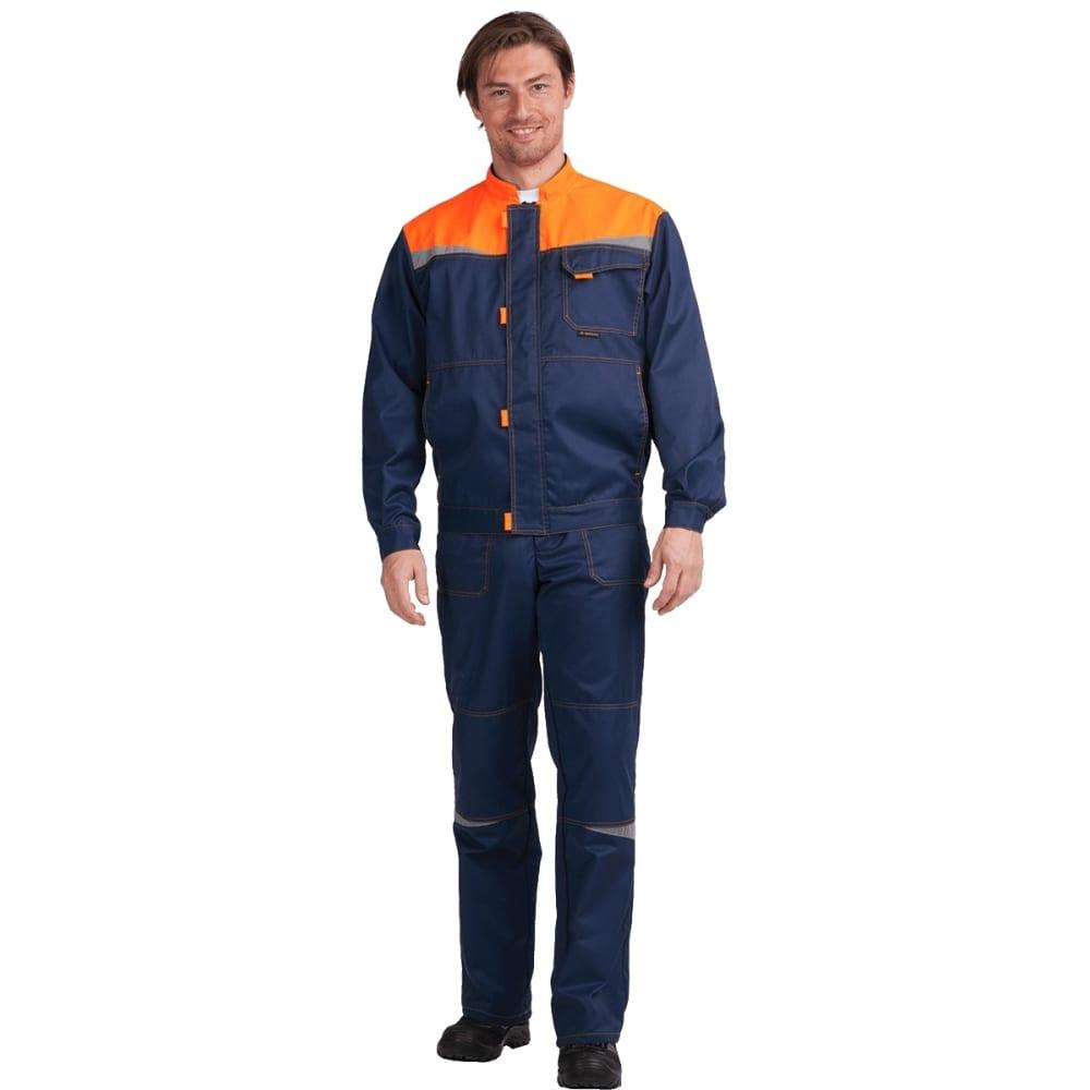 Костюм гк спецобъединение км-10 люкс темно-синий/оранжевый, р.88-92, рост 170-176 кос 050/ 88/170Рабочие костюмы<br>Тип: мужской с полукомбинезоном ;<br>Ткань: смесовая ;<br>Состав ткани: 53% хлопок, 47% полиэфир ;<br>Плотность ткани: 220 г/кв.м;<br>Размер: 44-46 ;<br>Рост: 170-176 см;<br>Пропитка: водоотталкивающая ;<br>Световозвращающая полоса: есть ;<br>Капюшон: нет ;<br>Тип застежки: молния ;<br>ГОСТ\ТУ: ГОСТ 12.4.280-2014, ТР ТС 019/2011 ;<br>Единиц в упаковке: 1 шт.;<br>Цвет: темно-синий/оранжевый ;<br>Международный размер: XS (44-46) ;<br>Сигнальный: нет ;<br>Вес модели: 1.4 кг;<br>Защитные свойства: от общих производственных загрязнений, от истирания ;
