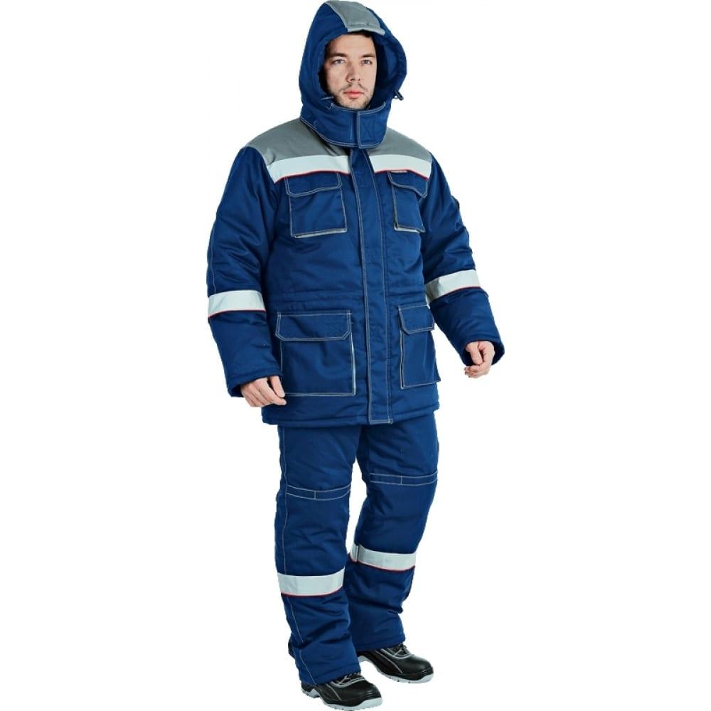 Утеплённый костюм гк спецобъединение надым темно-синий/серый, р.88-92, рост 170-176 кос 694/ 88/170Рабочие костюмы<br>Тип: мужской с полукомбинезоном ;<br>Ткань: СТ-2 ;<br>Утеплитель: синтотекс ;<br>Max температура: -40 °C;<br>Состав ткани: 35% хлопок, 65% полиэфир ;<br>Плотность ткани: 240 г/кв.м;<br>Размер: 44-46 ;<br>Рост: 170-176 см;<br>Пропитка: масловодоотталкивающая ;<br>Капюшон: есть ;<br>Тип застежки: молния ;<br>Цвет: темно-синий/серый ;<br>ГОСТ\ТУ: ГОСТ Р 12.4.236-2011 ;<br>Вес: 2 кг;<br>Международный размер: XS (44-46) ;<br>Сигнальный: нет ;<br>Светоотражающие элементы: есть ;<br>Единиц в упаковке: 1 шт.;<br>Защитные свойства: от пониженных температур воздуха до 40°C ;
