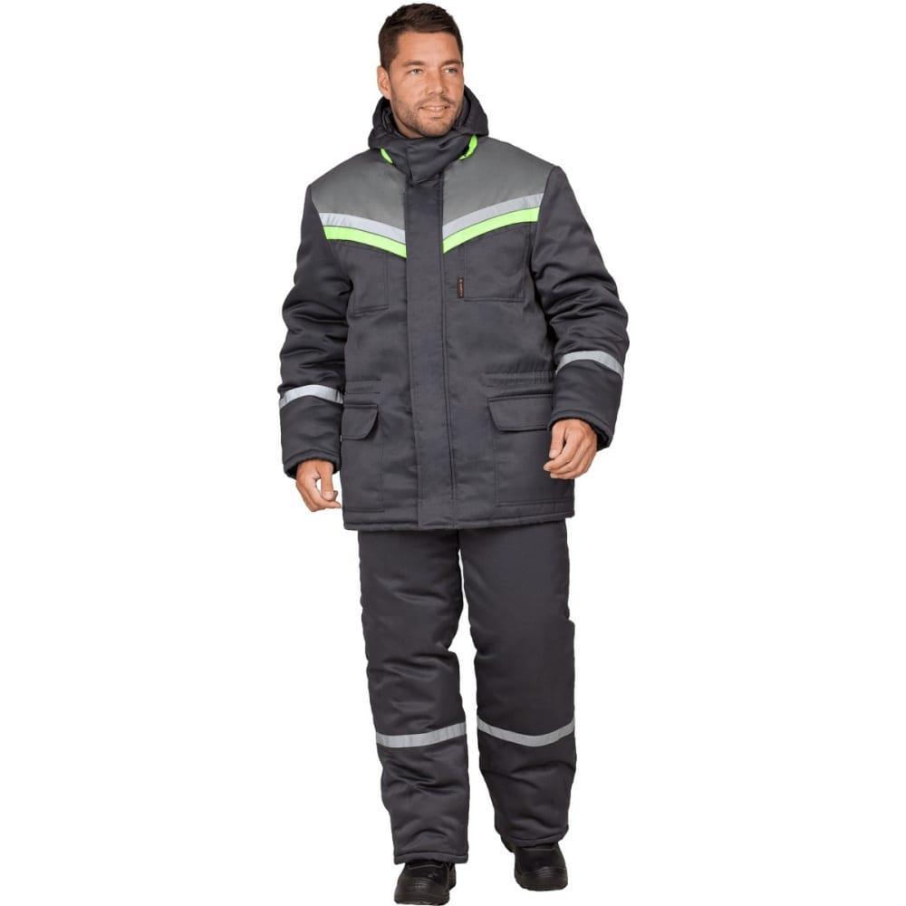 Утепленный костюм гк спецобъединение вьюга темно-серый, размер 120-124, рост 194-200 кос 313/120/194Рабочие костюмы<br>Тип: мужской брючный ;<br>Ткань: смесовая ;<br>Утеплитель: синтепон ;<br>Max температура: -18 °C;<br>Состав ткани: 20% - хлопок, 80% - полиэфир ;<br>Плотность ткани: 210 г/кв.м;<br>Размер: 60-62 ;<br>Рост: 194-200 см;<br>Пропитка: водоотталкивающая ;<br>Капюшон: есть ;<br>Тип застежки: молния ;<br>Цвет: темно-серый ;<br>ГОСТ\ТУ: ГОСТ Р 12.4.236-2011 ;<br>Вес: 1.8 кг;<br>Международный размер: 5XL (60-62) ;<br>Сигнальный: нет ;<br>Светоотражающие элементы: есть ;<br>Единиц в упаковке: 1 шт.;<br>Защитные свойства: от пониженных температур ;