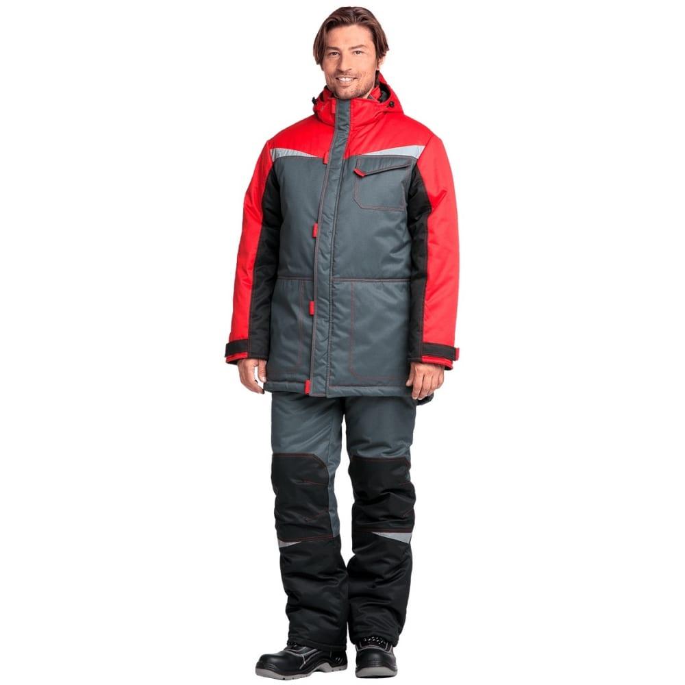 Утепленный костюм гк спецобъединение км-10 люкс серый-чёрный-красный, размер 112-116, рост 170-176 кос 465/112/170Рабочие костюмы<br>Ткань: смесовая ;<br>Утеплитель: климафорт ;<br>Max температура: -18 °С;<br>Состав ткани: 53% - хлопок, 47% - полиэфир ;<br>Плотность ткани: 220 г/кв.м;<br>Размер: 56-58 ;<br>Рост: 170-176 см;<br>Пропитка: водоотталкивающая ;<br>Капюшон: есть ;<br>Тип застежки: молния ;<br>Цвет: серый-черный-красный ;<br>ГОСТ\ТУ: ГОСТ Р 12.4.236-2011 ;<br>Вес: 2.5 кг;<br>Международный размер: XXXL (56-58) ;<br>Сигнальный: нет ;<br>Светоотражающие элементы: есть ;<br>Единиц в упаковке: 1 шт;<br>Защитные свойства: от пониженных температур ;