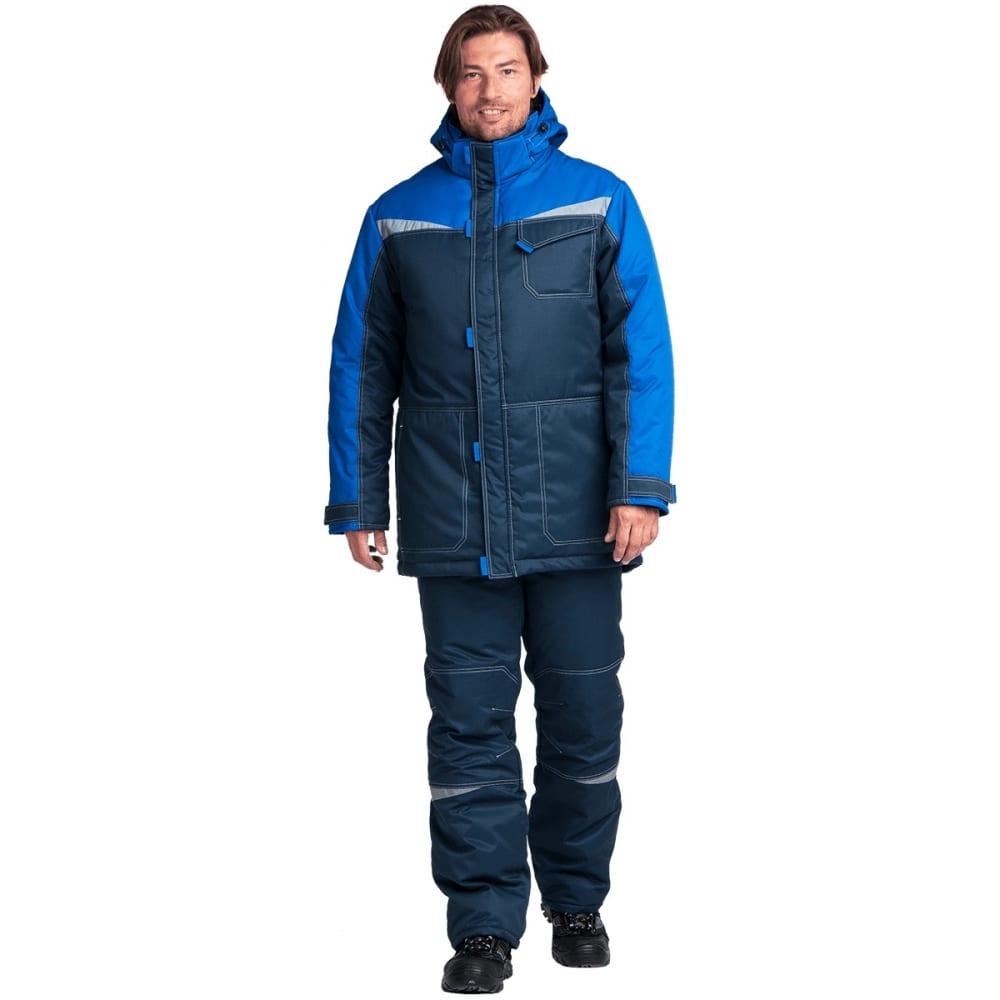 Утепленный костюм гк спецобъединение км-10 люкс синий-василек, размер 112-116, рост 194-200 кос 466/112/194