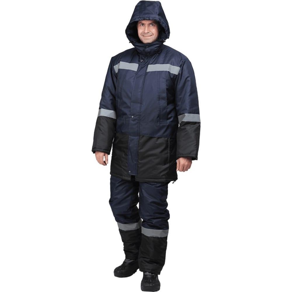 Утепленный костюм гк спецобъединение метеор темно-синий/чёрный, размер 112-116, рост 170-176 кос 604/112/170Рабочие костюмы<br>Вес: 2 кг;<br>Тип: мужской с полукомбинезоном ;<br>Цвет: темно-синий/черный ;<br>Max температура: -18 °C;<br>Ткань: оксфорд ;<br>Состав ткани: 100% полиэфир ;<br>Плотность ткани: 110 г/кв.м;<br>Размер: 56-58 ;<br>Рост: 170-176 см;<br>Пропитка: водоотталкивающая ;<br>Капюшон: есть ;<br>Тип застежки: молния ;<br>ГОСТ\ТУ: ГОСТ Р 12.4.236-2011 ;<br>Единиц в упаковке: 1 шт.;<br>Защитные свойства: от пониженных температур ;<br>Утеплитель: климафорт ;<br>Международный размер: XXXL (56-58) ;<br>Светоотражающие элементы: есть ;<br>Сигнальный: нет ;