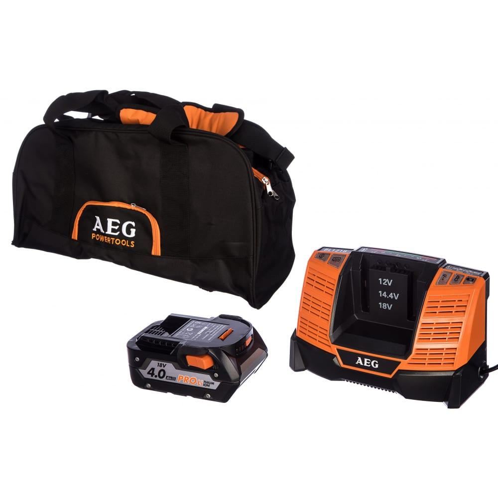 Аккумулятор (18 в; 4.0 а*ч; li-ion) + зарядное устройство set l1840bl aeg4932430359