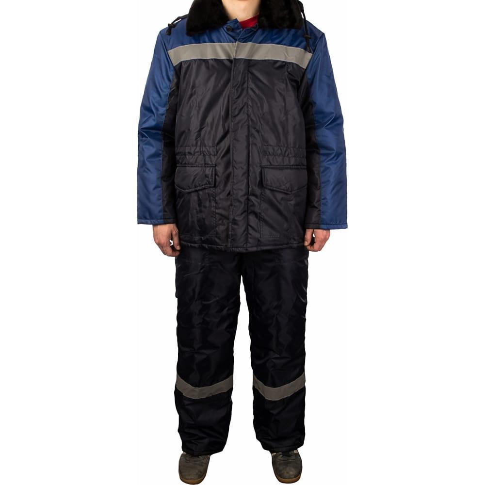 Утепленный костюм гк спецобъединение регион темно-синий/василёк р. 88-92, рост 182-188 кос 307/ 88/182Рабочие костюмы<br>Тип: мужской брючный ;<br>Ткань: оксфорд ;<br>Утеплитель: синтепон ;<br>Max температура: -18 °C;<br>Состав ткани: 100% полиэфир ;<br>Плотность ткани: 110 г/кв.м;<br>Размер: 44-46 ;<br>Рост: 182-188 см;<br>Пропитка: водоотталкивающая ;<br>Капюшон: есть ;<br>Тип застежки: пуговицы ;<br>Цвет: темно-синий/васильковый ;<br>ГОСТ\ТУ: ГОСТ Р 12.4.236-2011 ;<br>Международный размер: XS (44-46) ;<br>Сигнальный: нет ;<br>Светоотражающие элементы: есть ;<br>Единиц в упаковке: 1 шт.;<br>Защитные свойства: от пониженных температур ;