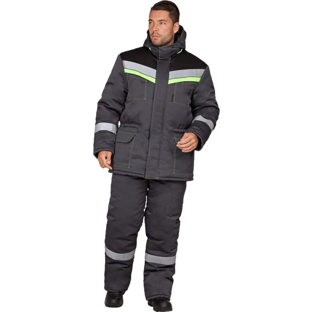Утеплённый костюм гк спецобъединение уренгой серый-черный, размер 88-92, рост 182-188 кос 314/ 88/182Рабочие костюмы<br>Вес: 2 кг;<br>Тип: мужской с полукомбинезоном ;<br>Цвет: серый-черный ;<br>Max температура: -41 °C;<br>Ткань: смесовая ;<br>Состав ткани: 20% - хлопок, 80% - полиэфир ;<br>Плотность ткани: 210 г/кв.м;<br>Размер: 44-46 ;<br>Рост: 182-188 см;<br>Пропитка: водоотталкивающая ;<br>Капюшон: есть ;<br>Тип застежки: молния ;<br>ГОСТ\ТУ: ГОСТ Р 12.4.236-2011 ;<br>Единиц в упаковке: 1 шт.;<br>Защитные свойства: от пониженных температур ;<br>Утеплитель: синтепон ;<br>Международный размер: XS (44-46) ;<br>Светоотражающие элементы: есть ;<br>Сигнальный: нет ;