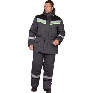 Утеплённый костюм гк спецобъединение уренгой серый-черный, размер 128-132, рост 182-188 кос 314/128/182