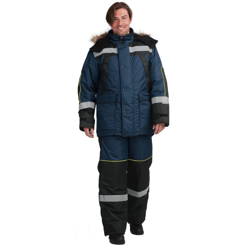 Утеплённый костюм гк спецобъединение ураган темно-синий/черный, размер 96-100, рост 170-176 кос 683/ 96/170Рабочие костюмы<br>Вес: 4.5 кг;<br>Тип: мужской с полукомбинезоном ;<br>Цвет: темно-синий/черный ;<br>Max температура: -41 °C;<br>Ткань: восток ;<br>Состав ткани: 100% полиэфир ;<br>Плотность ткани: 220 г/кв.м;<br>Размер: 48-50 ;<br>Рост: 170-176 см;<br>Пропитка: нет ;<br>Капюшон: есть ;<br>Тип застежки: молния ;<br>ГОСТ\ТУ: ГОСТ Р 12.4.236-2011 ;<br>Единиц в упаковке: 1 шт.;<br>Защитные свойства: от пониженных температур ;<br>Утеплитель: шелтер ;<br>Международный размер: M (48-50) ;<br>Светоотражающие элементы: есть ;<br>Сигнальный: нет ;
