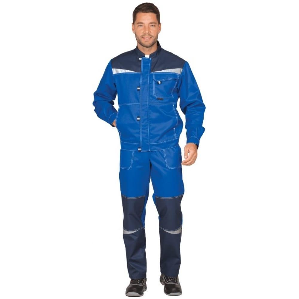 Костюм гк спецобъединение км-10 люкс василек/темно-синий, р.96-100, рост 182-188 кос 595/ 96/182Рабочие костюмы<br>Тип: мужской с полукомбинезоном ;<br>Цвет: темно-синий/васильковый  ;<br>Ткань: смесовая ;<br>Состав ткани: 53% хлопок, 47% полиэфир ;<br>Плотность ткани: 220 г/кв.м;<br>Размер: 48-50 (рост 182-188) ;<br>Рост: 182-188 см;<br>Пропитка: водоотталкивающая ;<br>Световозвращающая полоса: есть ;<br>Капюшон: нет ;<br>Тип застежки: молния ;<br>ГОСТ\ТУ: ГОСТ 12.4.280-2014 ;<br>Единиц в упаковке: 1 шт.;<br>Вес модели: 1.4 кг;<br>Защитные свойства: от общих производственных загрязнений, от истирания ;<br>Международный размер: M (48-50) ;<br>Сигнальный: нет ;