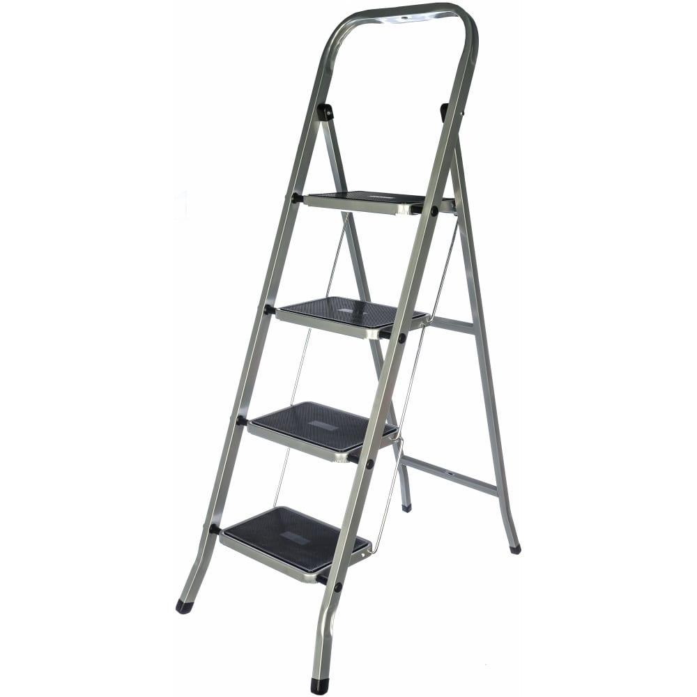 Стальная лестница-стремянкаfit рос 4 широкие ступени 65383  - купить со скидкой