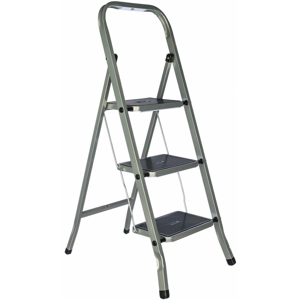 Купить Стальная лестница-стремянка fit рос 3 широкие ступени 65382