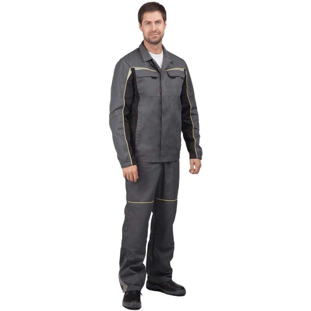 Костюм (куртка, брюки) гк спецобъединение форсаж серый/чёрный, р.88-92, рост 170-176 кос 593/ 88/170Рабочие костюмы<br>Тип: мужской брючный ;<br>Цвет: серый/черный ;<br>Ткань: ТОМБОЙ ;<br>Состав ткани: 33% хлопок, 67% полиэфир ;<br>Плотность ткани: 245 г/кв.м;<br>Размер: 44-46 (рост 170-176) ;<br>Рост: 170-176 см;<br>Световозвращающая полоса: есть ;<br>Капюшон: нет ;<br>Тип застежки: пуговицы ;<br>ГОСТ\ТУ: ГОСТ 12.4.280-2014 ;<br>Единиц в упаковке: 1 шт.;<br>Вес модели: 1.3 кг;<br>Защитные свойства: от общих производственных загрязнений, от истирания ;<br>Международный размер: XS (44-46) ;<br>Сигнальный: нет ;