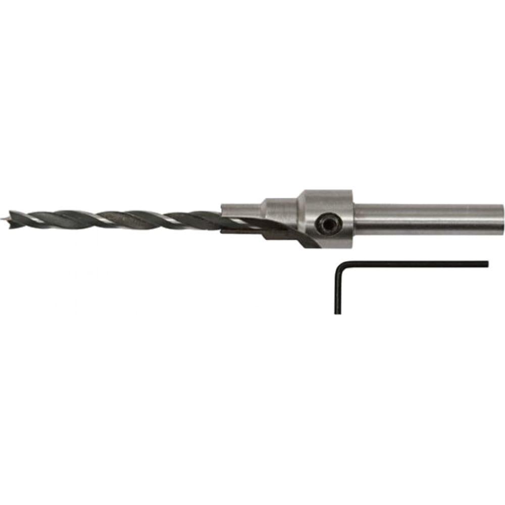 Сверло с зенкером для мебельных стяжек (5 мм) fit 36432