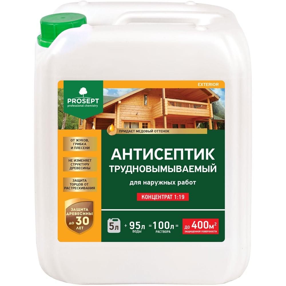 Купить Антисептик exterior для наружных работ (концентрат)5 л prosept 002-5