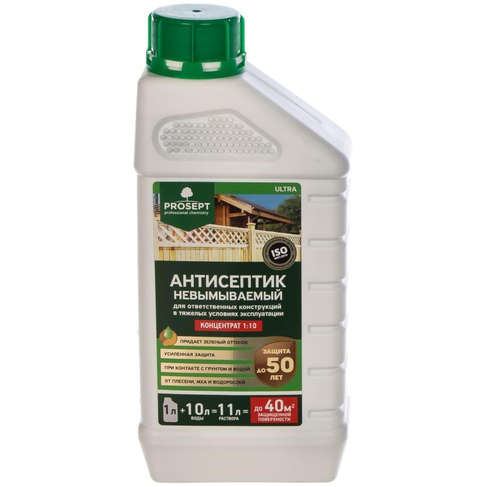 Купить Невымываемый антисептик ultra для ответственных конструкций (концентрат) 1 л prosept 008-1