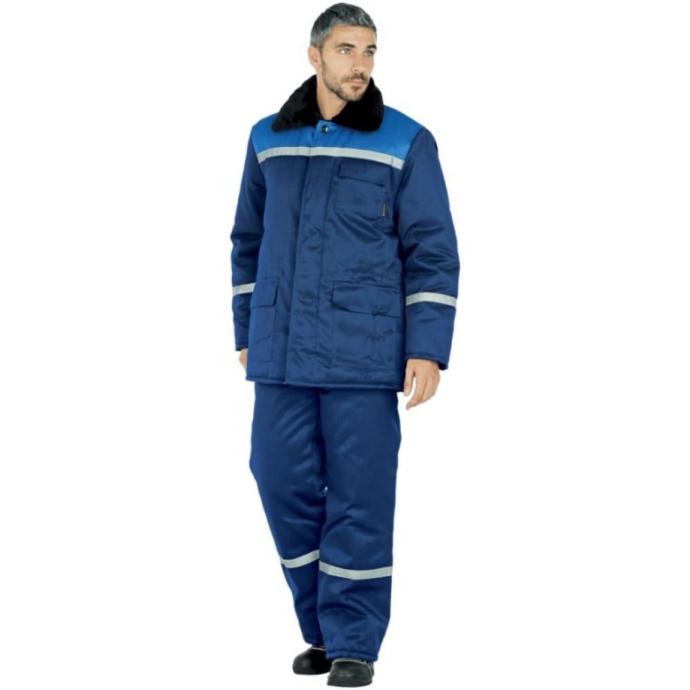Утеплённая куртка гк спецобъединение метелица темно-синий/василёк, р. 120-124, рост 182-188 кур 311/120/182Утепленные куртки<br>Вес: 1.5 кг;<br>Тип: мужская ;<br>Цвет: темно-синий/васильковый ;<br>Max температура: -18 °C;<br>Ткань: смесовая ;<br>Состав ткани: 20% хлопок, 80% полиэфир ;<br>Плотность ткани: 210 г/кв.м;<br>Размер: 60-62 ;<br>Рост: 182-188 ;<br>Пропитка: водоотталкивающая ;<br>Капюшон: есть ;<br>Тип застежки: пуговицы ;<br>ГОСТ\ТУ: ГОСТ Р 12.4.236-2011 ;<br>Единиц в упаковке: 1 шт.;<br>Защитные свойства: от пониженных температур воздуха ;<br>Утеплитель: синтепон ;<br>Международный размер: 5XL (60-62) ;<br>Светоотражающие элементы: есть ;