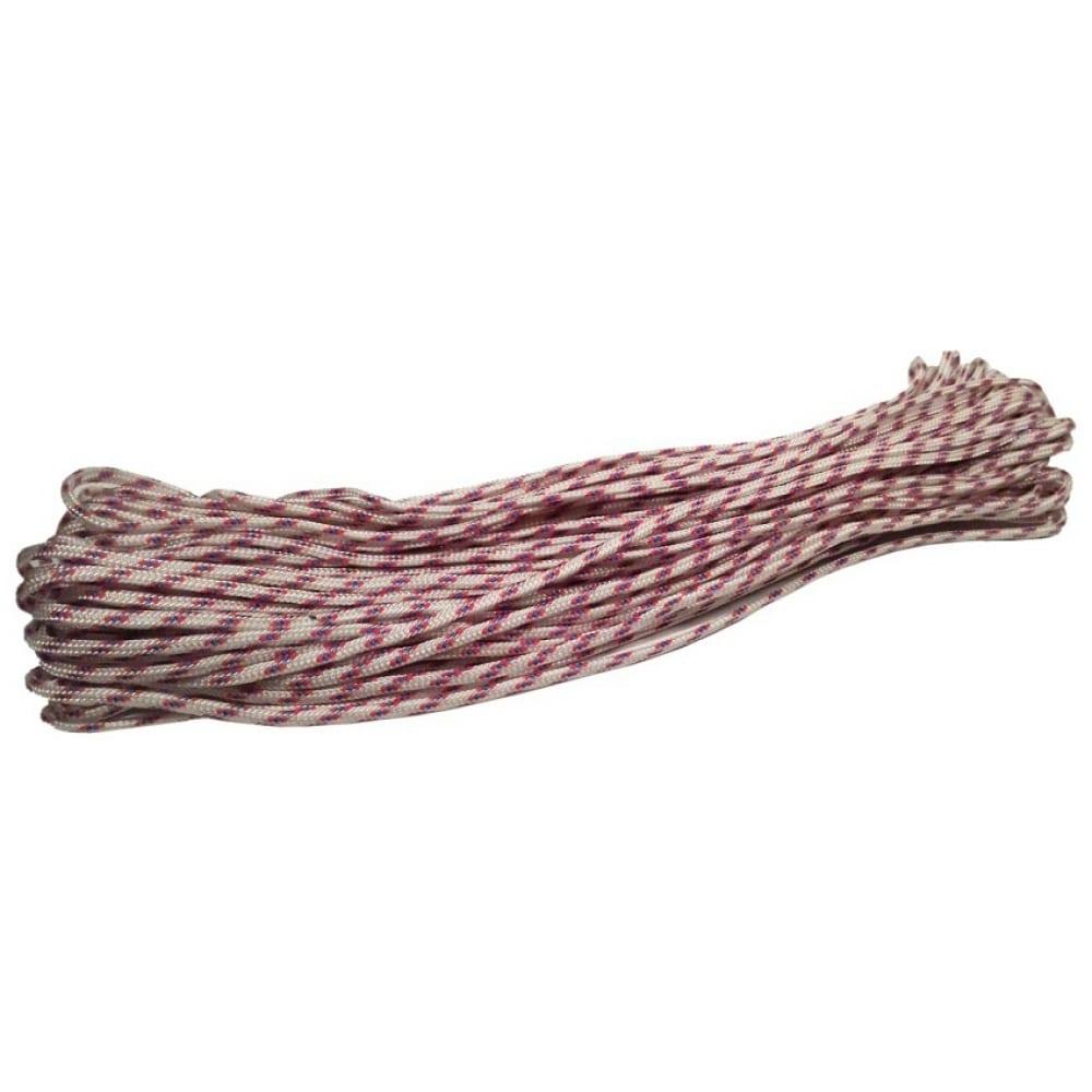 Купить Вязано-плетенный шнур (пп, 4 мм, хозяйственный, цветной, 20 м) tech-krep 139935