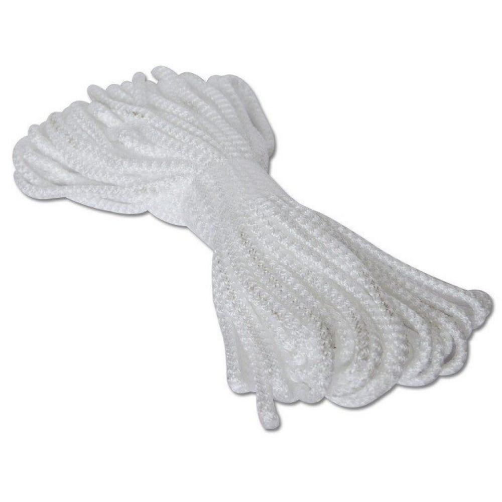 Купить Вязано-плетенный шнур (пп, 5 мм, хозяйственный, белый, 20 м) tech-krep 139943