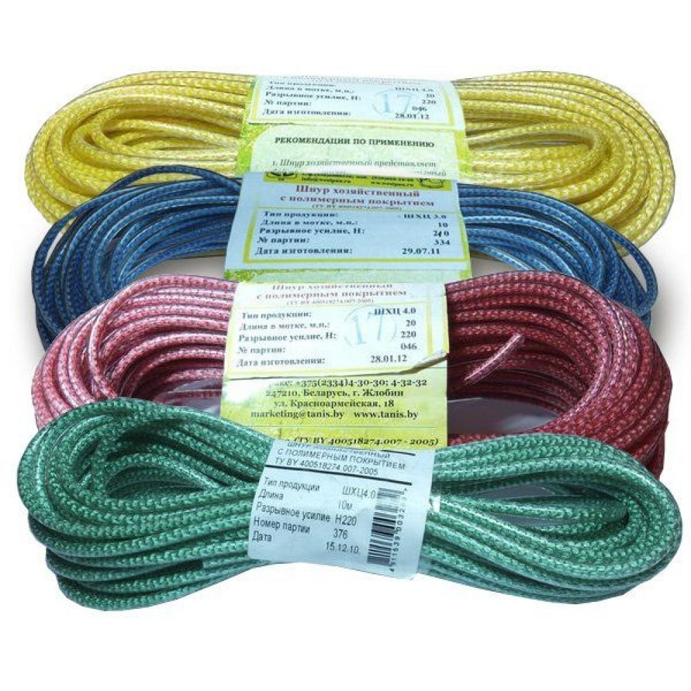Купить Хозяйственный шнур с полимерным покрытием 3 мм 10м синий tech-krep 136611