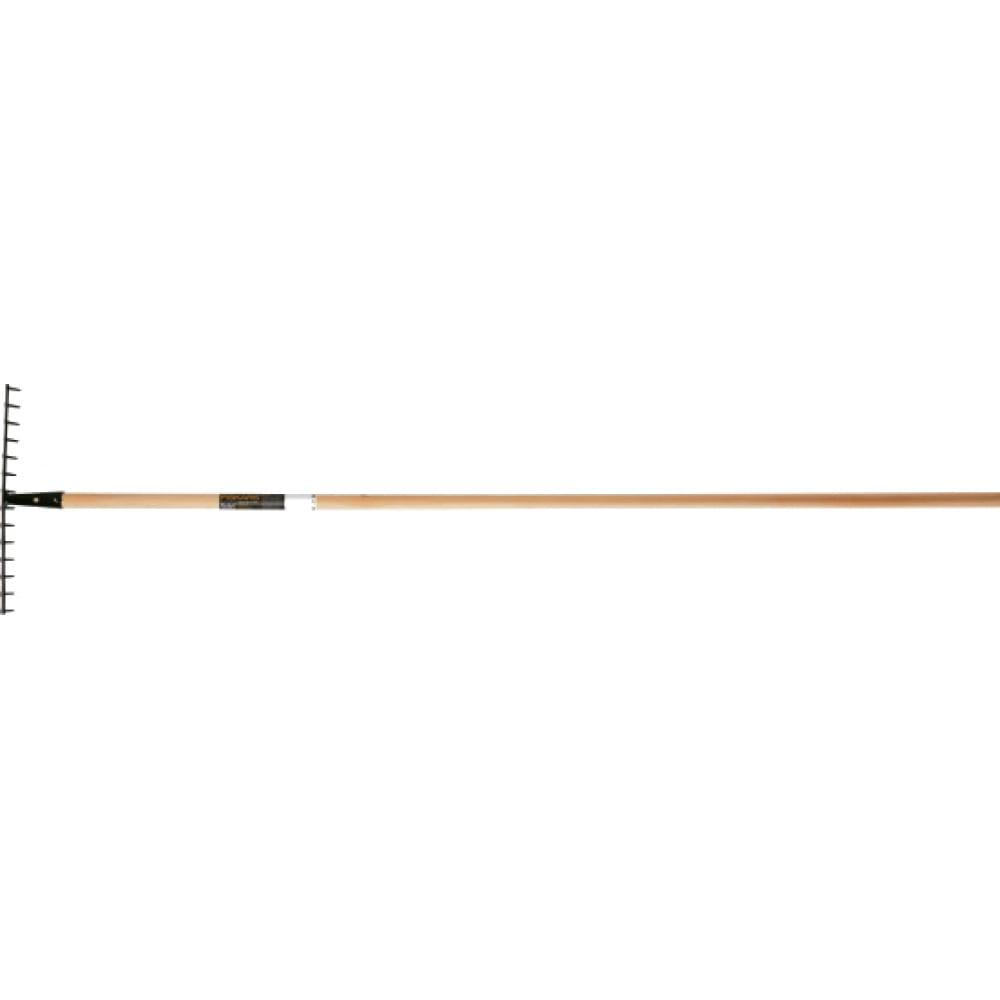 Грабли (универсальные, деревянный черенок) fiskars solidtm 1026725