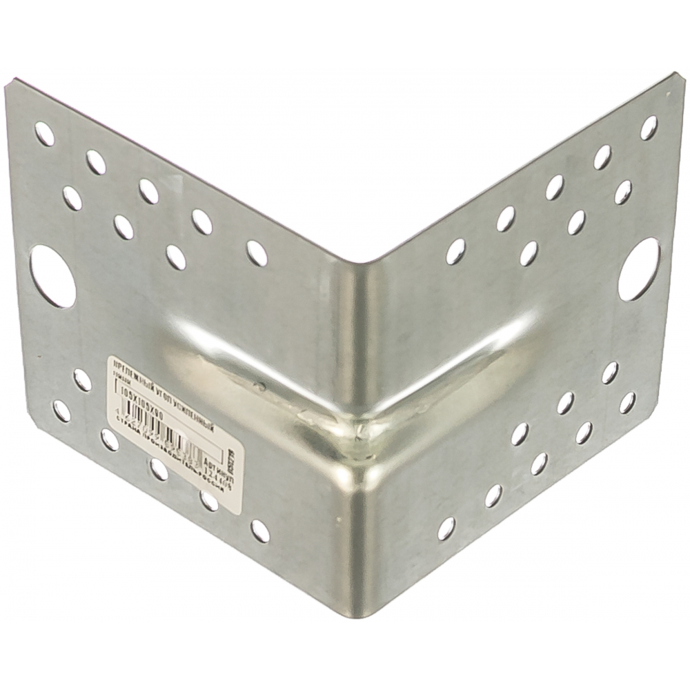 Купить Крепежный усиленный уголок tech-krep оцинкованный 105х105х90х2, 0 мм - накл. 124408