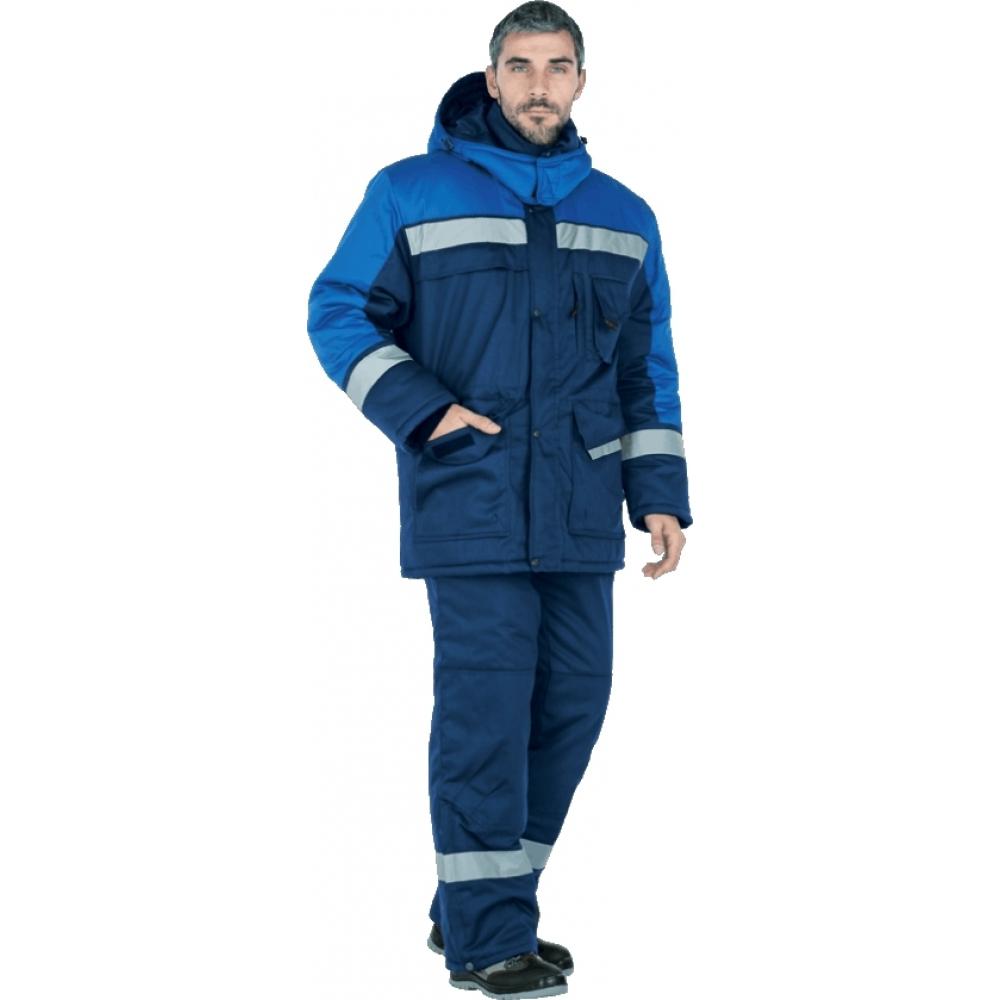 Утепленный костюм гк спецобъединение амур темно-синий/василёк, р.112-116, рост 170-176 кос 677/112/170Рабочие костюмы<br>Вес: 3 кг;<br>Тип: мужской брючный ;<br>Цвет: темно-синий/василёк ;<br>Max температура: -18 °С;<br>Ткань: СТ-1 ;<br>Состав ткани: 35% хлопок, 65% полиэфир ;<br>Плотность ткани: 210 г/кв.м;<br>Размер: 56-58 ;<br>Рост: 170-176 см;<br>Пропитка: масловодоотталкивающая ;<br>Капюшон: есть ;<br>Тип застежки: молния ;<br>ГОСТ\ТУ: ГОСТ Р 12.4.236-2011 ;<br>Единиц в упаковке: 1 шт;<br>Защитные свойства: от пониженных температур воздуха ;<br>Утеплитель: климафорт ;<br>Международный размер: XXXL (56-58) ;<br>Светоотражающие элементы: есть ;<br>Сигнальный: нет ;