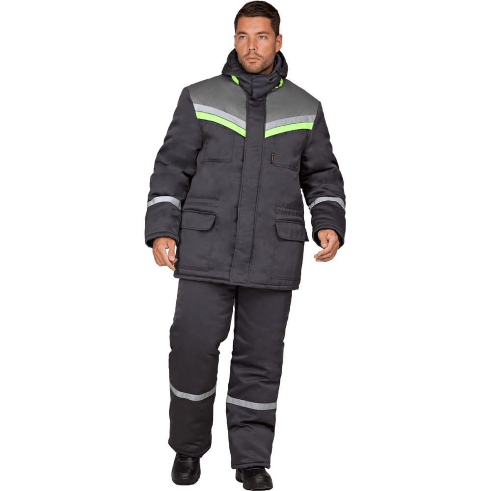 Утепленная куртка гк спецобъединение вьюга темно-серая, размер 104-108, рост 170-176 кур 322/104/170Утепленные куртки<br>Ткань: смесовая ;<br>Состав ткани: 20% хлопок, 80% полиэфир ;<br>Утеплитель: синтепон ;<br>Плотность ткани: 210 г/кв.м;<br>Max температура: -18 °C;<br>Размер: 104-108 ;<br>Рост: 170-176 ;<br>Пропитка: водоотталкивающая ;<br>Капюшон: есть ;<br>Тип застежки: молния ;<br>ГОСТ\ТУ: ГОСТ Р 12.4.236-2011 ;<br>Вес: 1.5 кг;<br>Цвет: темно-серый ;<br>Международный размер: XL (52-54) ;<br>Светоотражающие элементы: есть ;<br>Единиц в упаковке: 1 шт.;<br>Защитные свойства: от пониженных температур ;