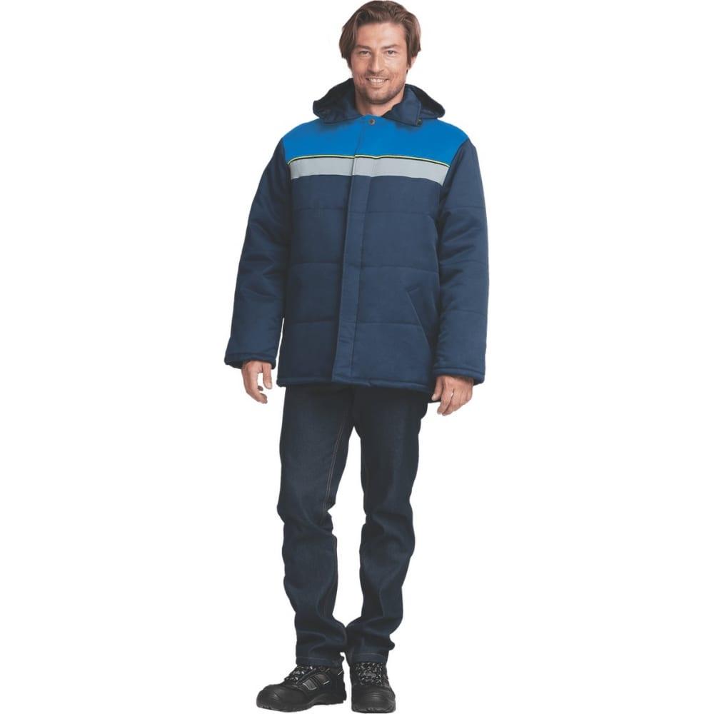 Утепленная куртка гк спецобъединение евротелогрейка темно-синий/василек, размер 120-124, рост 182-188 кур 312/120/182Утепленные куртки<br>Ткань: смесовая ;<br>Состав ткани: 20% хлопок, 80% полиэфир ;<br>Утеплитель: синтепон ;<br>Плотность ткани: 210 г/кв.м;<br>Max температура: -18 °C;<br>Размер: 120-124 ;<br>Рост: 182-188 ;<br>Пропитка: водоотталкивающая ;<br>Капюшон: есть ;<br>Тип застежки: пуговицы ;<br>ГОСТ\ТУ: ГОСТ Р 12.4.236-2011 ;<br>Вес: 1.4 кг;<br>Цвет: темно-синий/васильковый ;<br>Международный размер: 5XL (60-62) ;<br>Светоотражающие элементы: есть ;<br>Единиц в упаковке: 1 шт.;<br>Защитные свойства: от пониженных температур ;